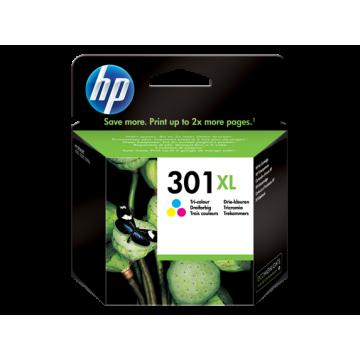 HP 301XL YÜKSEK KAPASİTELİ ÜÇ RENKLİ MÜREKKEP KARTUŞ CH564EE