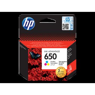 HP 650 ÜÇ RENKLİAVANTAJLI MÜREKKEP KARTUŞU CZ102AE